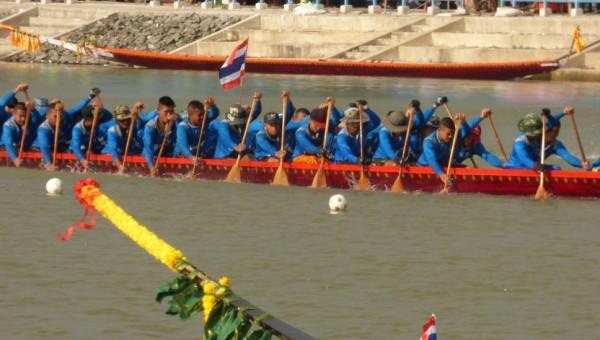 Longboat racing Phimai festival Thailand